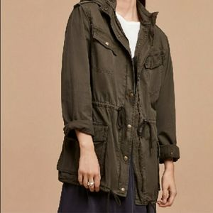 Talula Utility Trooper Jacket Brown Small